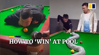 Chinese duo teach you how to 'win' at pool screenshot 2