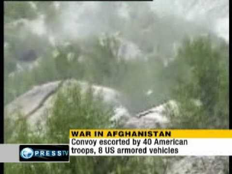 Afghan footage showing attack on US convoy where 40 American troops were killed