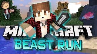 minecraft funny new run from the beast mini game w mitch friends