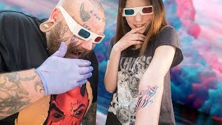Можно ли сделать 3D тату ? татуировки в 3D БОМБА или ДИЧЬ ?