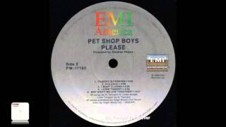 Pet Shop Boys Tonight Is Forever Vinyl 384 KHz 32 Bits