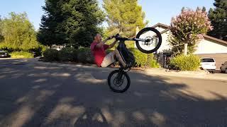 Sur-Ron electric bike slow speed wheelie