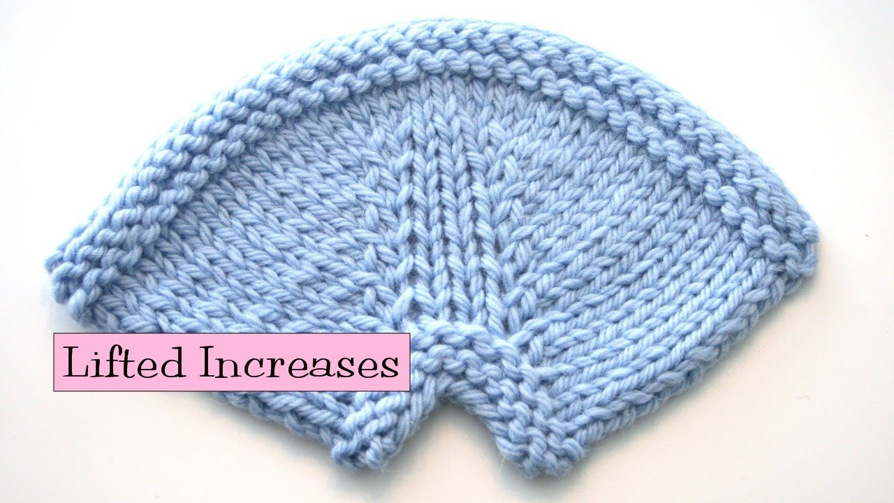 Knitting Increasing Stitches Make One : Knitting Help - Lifted Increases - YouTube