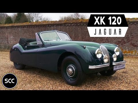 JAGUAR XK120 DHC LHD 1953 - Modest test drive - Engine sound | SCC TV