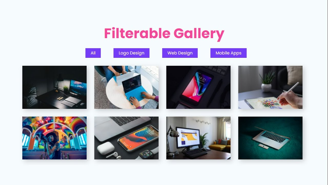 Portfolio Filterable Image Gallery With HTML CSS & JavaScript