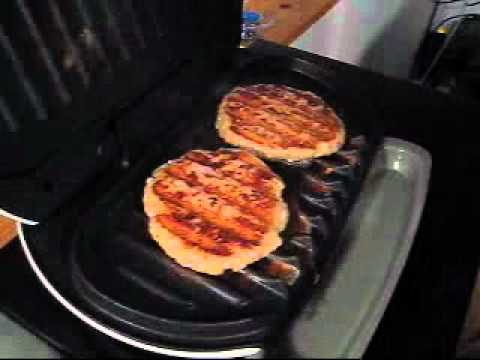 How long does it take to cook a frozen turkey burger on a george foreman grill