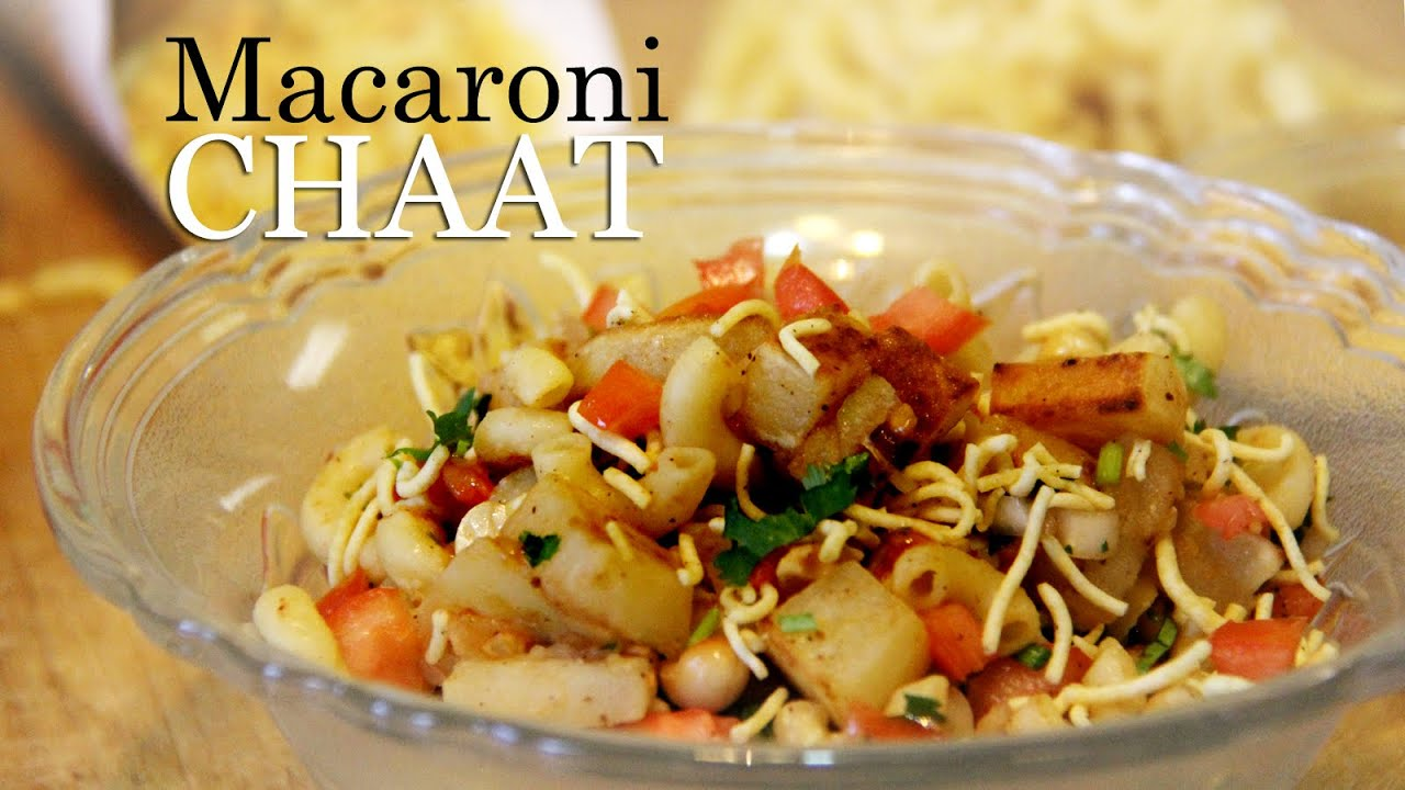 Macaroni Chaat Recipe | Indian Style Macaroni Pasta Recipe