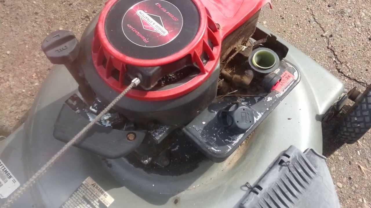 45 Hp Briggs Engine Diagram And Stratton Model 135212 5 Mower Won T Run 2003 Craftsman 22 4 5hp Rh Youtube Com Parts No Spark
