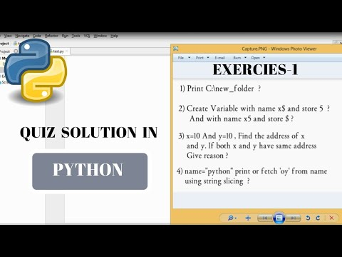 #8 Python Tutorial for Beginners | Quiz_1 Solution | python exercise solution thumbnail
