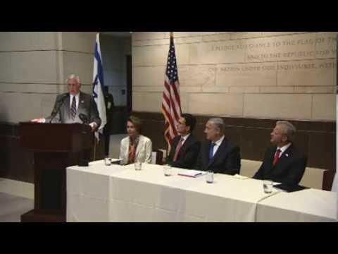 Congressman Steny Hoyer introduces PM Netanyahu