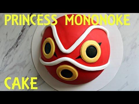 Princess Mononoke Mask Cake Studio Ghibli Fluffnpuff Pastry Youtube