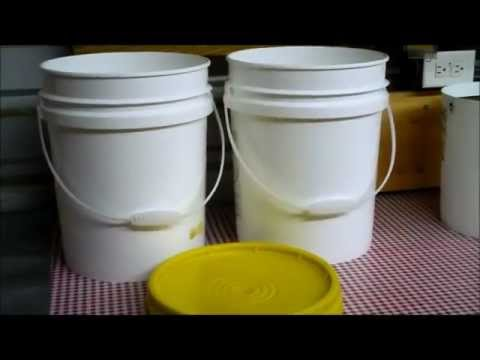 Food Storage: Corn, Whole Kernel in 5 Gallon Plastic Buckets with Diatomaceous Earth