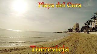Испания город Торревьеха, море и центральный песчаный пляж Playa del Cura(Испания, море и центральный песчаный пляж в городе Торревьеха Playa del Cura. Пляжи Коста Бланки http://Espana-Live.com/category..., 2016-01-15T17:47:25.000Z)