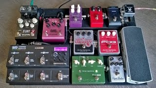 Pedaltrain pedal board set up from start to finish with one power supply for DC/AC-pedals
