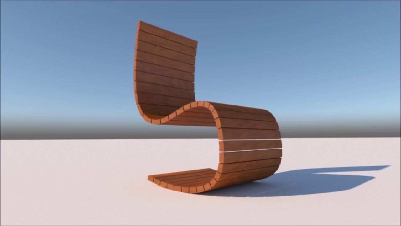 #8 modern chair design  SKETCHUP 8  INDIA
