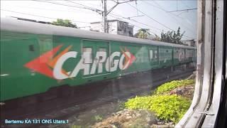 Naik kereta api - Serayu pagi dari Stasiun Pasar senen ke Stasiun Purwakarta aja