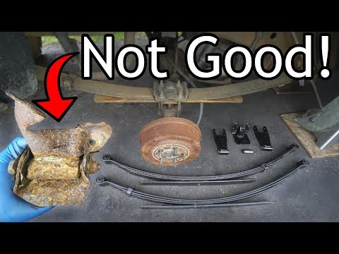 How to Replace Leaf Springs and Lift your Truck