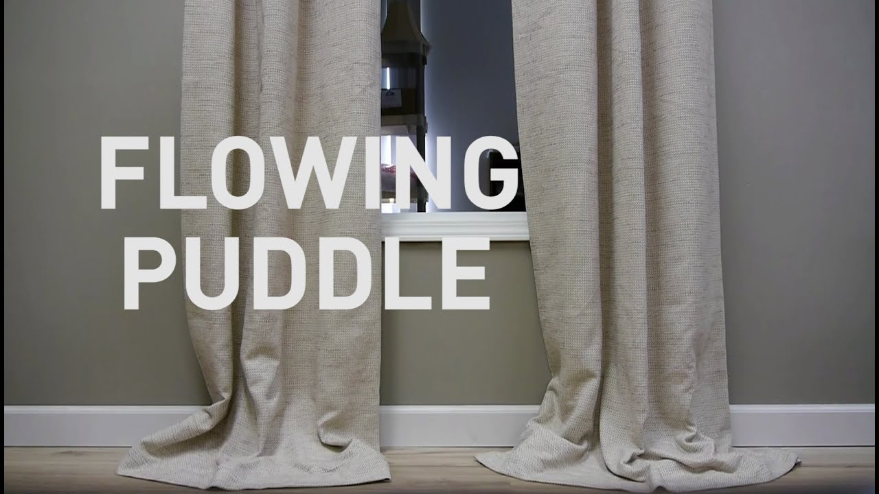 Curtain lengths puddle - How To Style Puddled Draperies Flowing Puddle