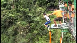 Brave Nepali Girl - Bungee Jump