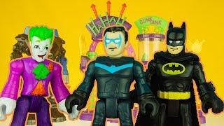 NEW JOKER IMAGINEXT LAFF FACTORY & NIGHTWING saves BATMAN superhero toys