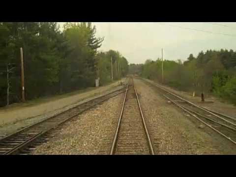 Amtrak's Adirondak passing through Saratoga Springs