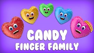 The Finger Family Candy Family Nursery Rhyme  - Candy Finger F…