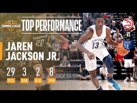 Jaren Jackson Jr. Scores 29 Pts In 2018 NBA Summer League Debut