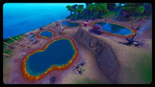 """Ride 3 different Volcano Vents without landing"" FASTEST and EASIEST Location! (Fortnite Season 8)"