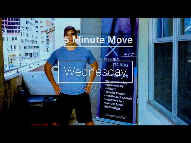 Chest and Arms - Exercise Bands - 5 Minute Move - Wednesday
