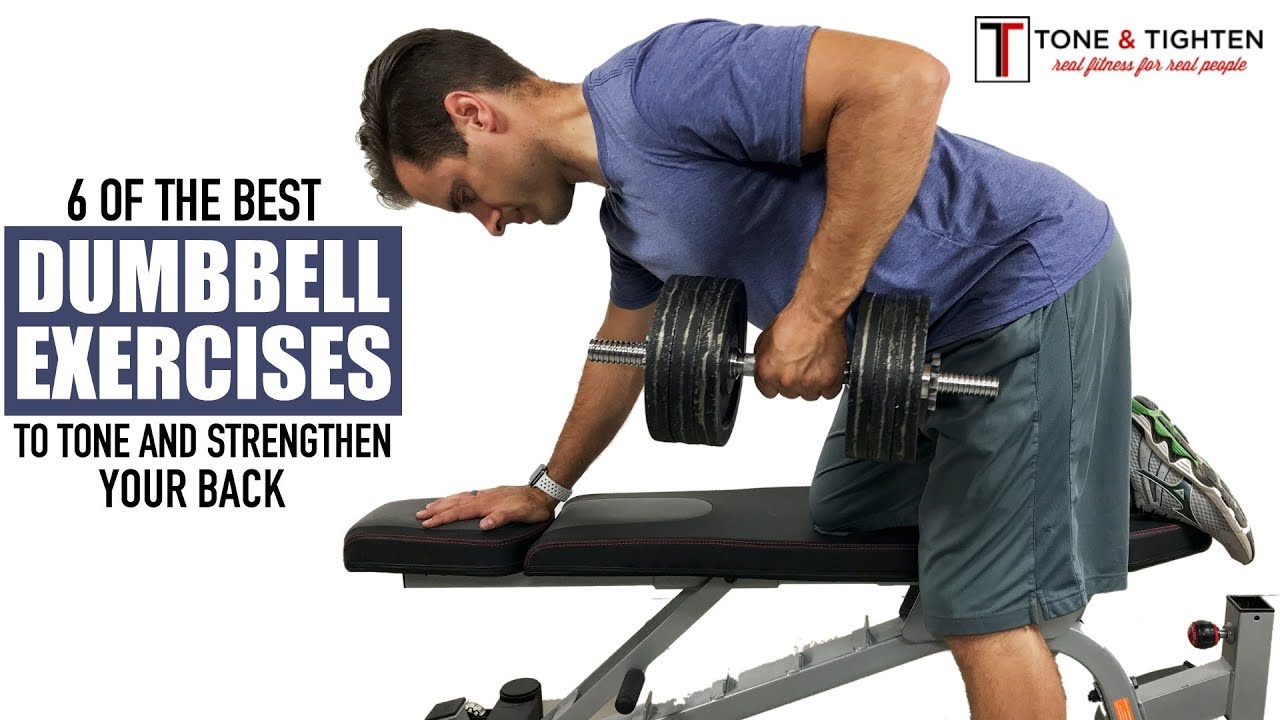 Best Dumbbell Back Exercises Tone And Tighten Youtube