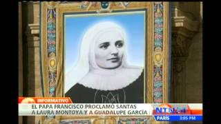 Miles de fieles congregados para la ceremonia de canonización de Laura Montoya y Guadalupe García