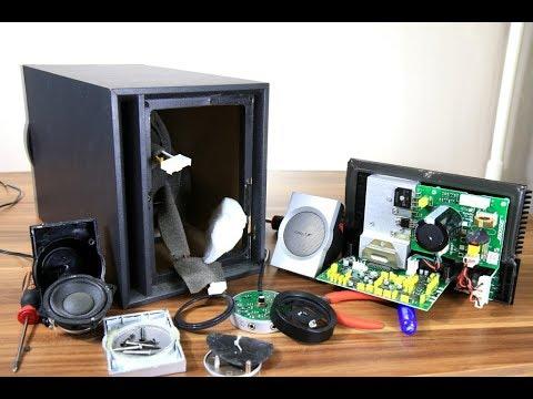 Look inside Bose companion 3 Multimedia Speaker system PART 1 - YouTube