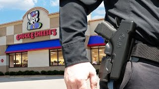 Police Officer With Gun Kicked Out of Chuck E. Cheese