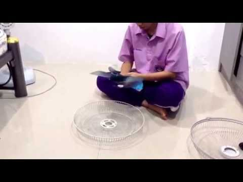 How to Clean a fan (Oscillating round fan) | Electrical Power(MTTS.24s)