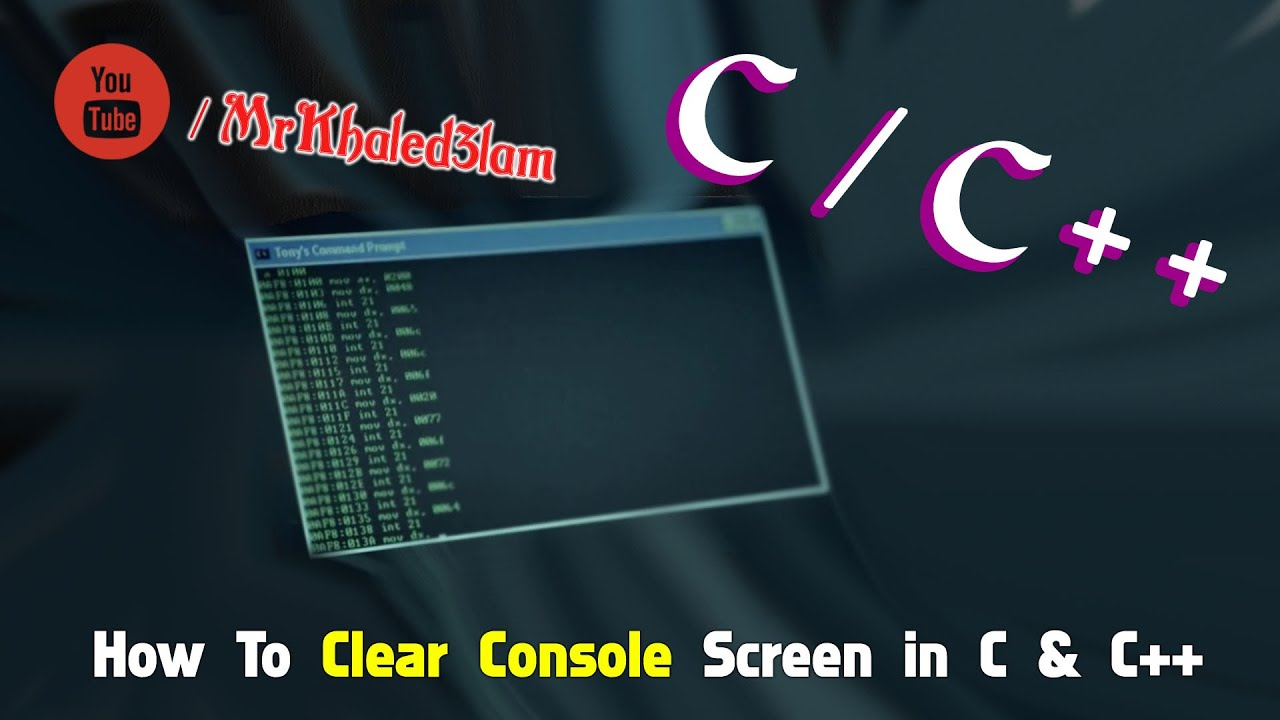 [C-C++] : How To Clear Console Screen In C or C++