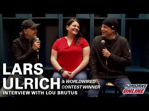 Metallica's Lars Ulrich interview with hardDrive Radio's Lou Brutus & WorldWired Contest Winner