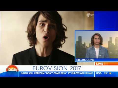 Australian TV - Today Show - Meet Australia's new Eurovision hopeful - Isaiah Firebrace