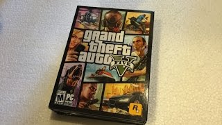 Unboxing GTA 5 for PC