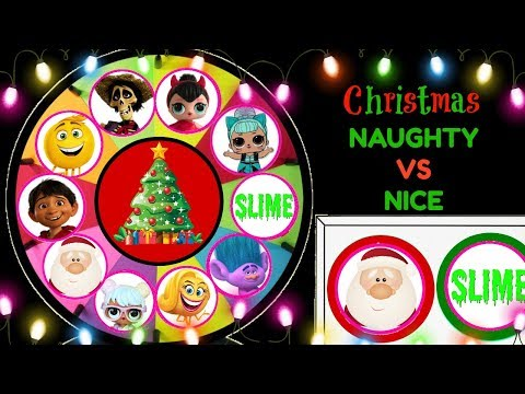 Christmas Naughty Or Nice Spinning Wheel Game Surprise Toys