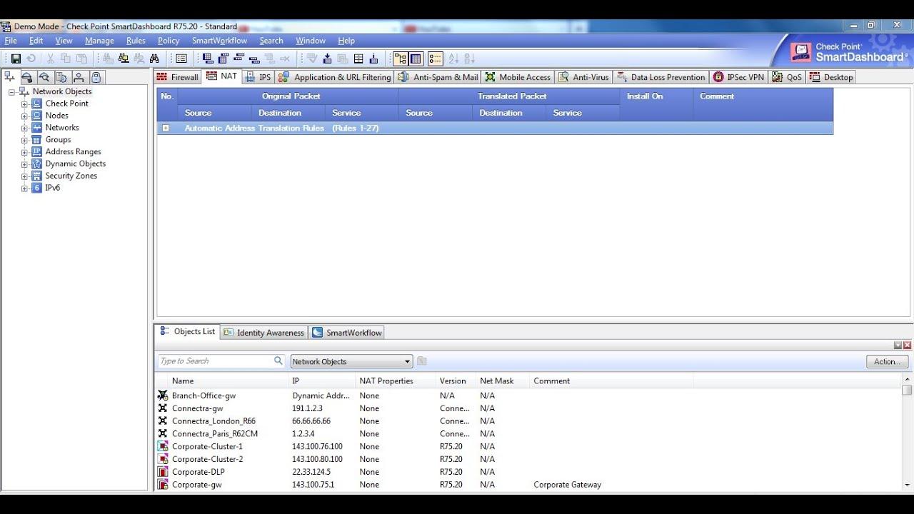 Network Address Translation - Check Point R75 Firewalls - Tutorial &  Configuration Part 2