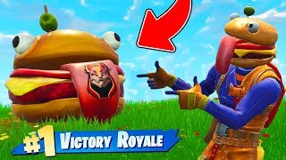 The DURR BURGER CHALLENGE In Fortnite Battle Royale!