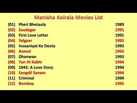 Manisha Koirala Movies List