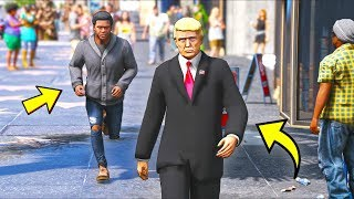 What happens if you follow Mr President?! (GTA 5 Mods Gameplay)