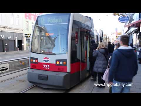AUSTRIA TRAVEL VLOG | Public Trams in VIENNA City, Austria