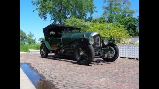 1926 Bentley Tourer in Green & 3-4 ½ Litre Engine Sound & Ride on My Car Story with Lou Costabile