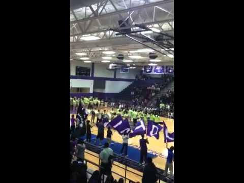 UHS Trojan Drumline 2012 pep rally