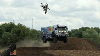 Backflip over Red Bull KAMAZ truck in Russia