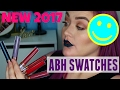 NEW 2017 ABH LIQUID LIPSTICKS | Swatches, Lip Swatches, First Impression