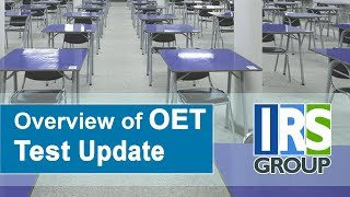 Overview of OET Test Update (September 2018)