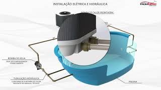 Instalação hidráulica e Elétrica de uma Bomba de calor - Fromtherm